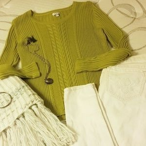 ❄💚Gorgeous💚❄ Lime Green Knitted Sweater